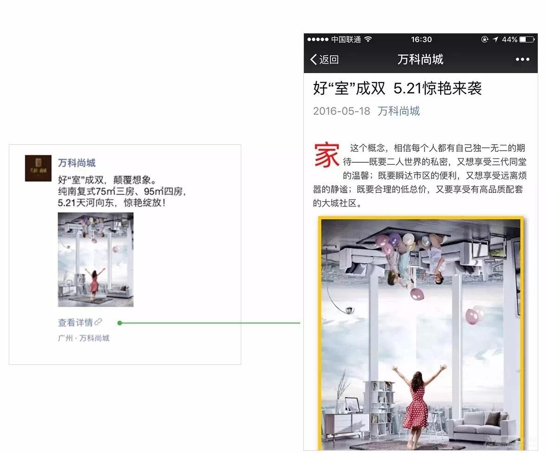 万科尚城本地推广广告示意图