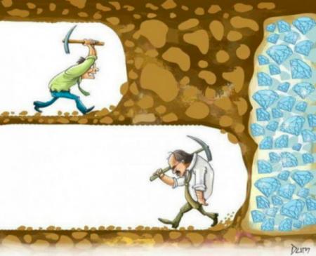 创业就像挖宝藏,不要轻易放弃